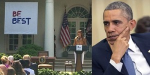 Melania and Obama